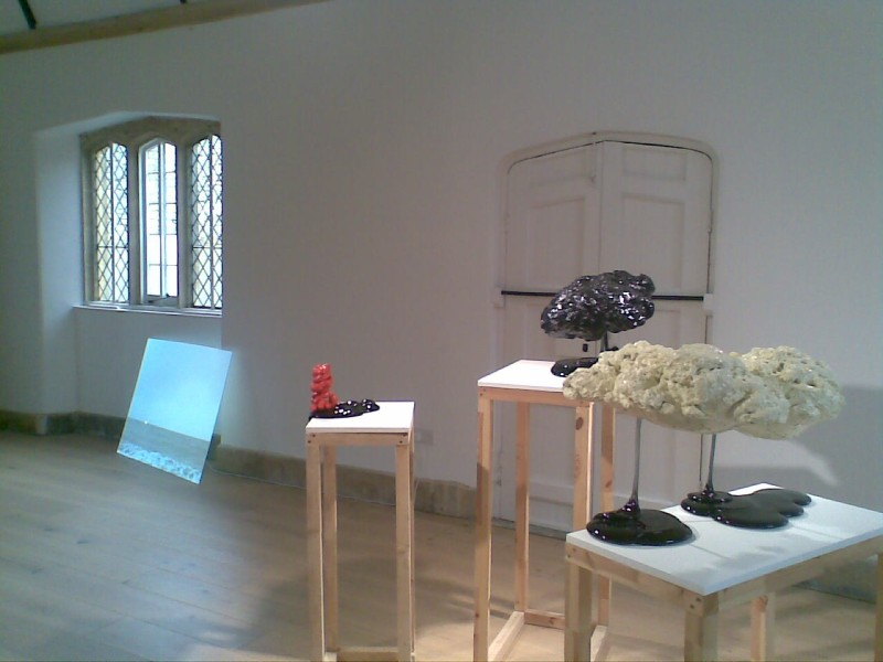 Installation view: Nothing Ever Happens, OSR Projects  (Ellie Doney's work in foreground)